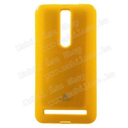MERCURY szilikon védő tok / hátlap - SÁRGA - ASUS Zenfone 2 (ZE551ML) - GYÁRI
