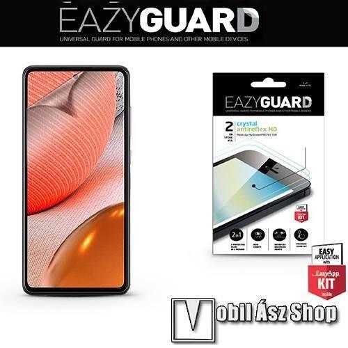 EAZYGUARD képernyővédő fólia - 2 db/csomag (Crystal/Antireflex MATT!) - törlőkendővel, A képernyő sík részét védi - SAMSUNG Galaxy A72 5G (SM-A726F / SM-A726B/DS) / Galaxy A72 4G (SM-A725F / SM-A725F/DS) - GYÁRI