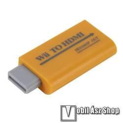 Nintendo Wii-hez 1080P HDMI adapter / átalakító - 3.5 mm-es audio kimenet, NTSC 480i 480p, 576i PAL, 45 x 34 x 14 mm - SÁRGA
