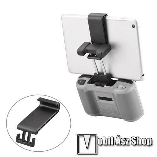 DJI Mini 2 / Mavic Air 2 / Air 2S modellekhez távirányító telefontartó hosszabbító táblagépekhez - 115mm-145mm-ig nyíló bölcső, max. 12mm vastag táblagépekig használható - FEKETE