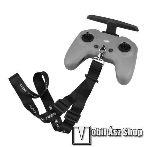 DJI FPV Combo távirányítóhoz nyakpánt - csatos, állítható, 60cm hosszú - FEKETE