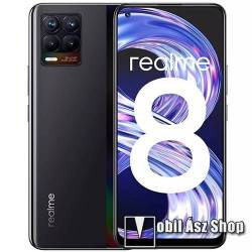 realme 8, Dual SIM, 64GB, fekete