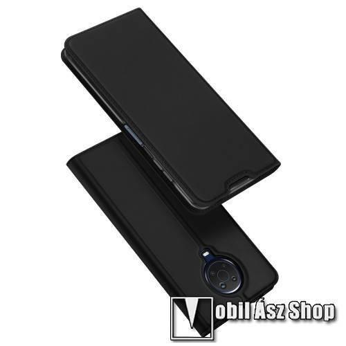 DUX DUCIS Skin Pro Series slim design notesz / mappa tok - FEKETE - asztali tartó funkciós, oldalra nyíló, rejtett mágneses záródás, bankkártyatartó zseb, szilikon belső - NOKIA G10 / G20 - GYÁRI