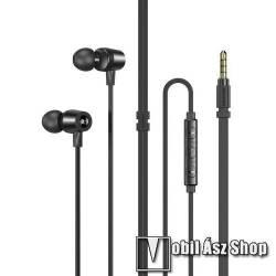AWEI L1 UNIVERZÁLIS sztereo headset - 3,5mm jack, felvevő gomb, mikrofon, hangerőszabályzó gombok, zajszűrő, 1.2m hosszú vezeték - FEKETE - GYÁRI