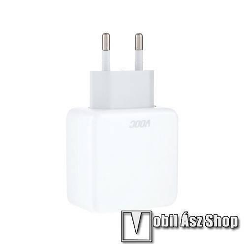 OPPO VOOC hálózati töltő - 1x USB aljzat, 5V / 4A, Flash Charge 4.0, KÁBEL NÉLKÜL! - FEHÉR - OPPO R11s/R9s/R7s/R15/A5s/A3s/R17/K3/K5 - GYÁRI