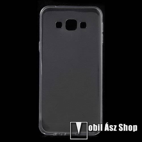 Szilikon védő tok / hátlap - ULTRAVÉKONY! 0,6mm - ÁTLÁTSZÓ - SAMSUNG SM-A800F Galaxy A8