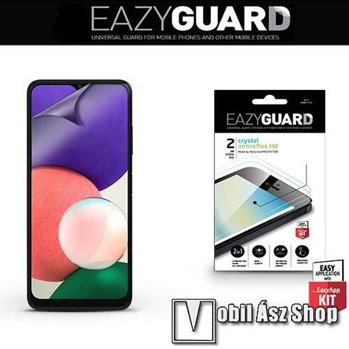 EAZYGUARD képernyővédő fólia - 2 db/csomag (Crystal/Antireflex MATT!) - törlőkendővel, A képernyő sík részét védi - SAMSUNG Galaxy A22 5G (SM-A226) / Galaxy F42 5G (SM-E426B/DS) - GYÁRI