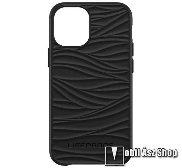 LIFEPROOF WAKE műanyag védő tok / hátlap - FEKETE - szilikon betétes, ERŐS VÉDELEM! - APPLE iPhone 12 mini - GYÁRI