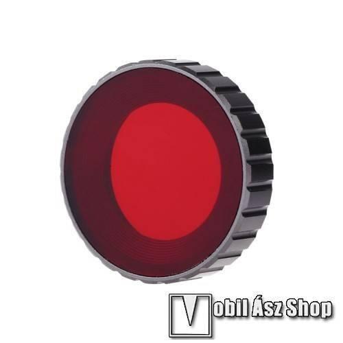 PULUZ DJI OSMO Action-höz kameralencse szűrő búvárkodáshoz - nano többrétegű bevonat, edzett üveg, vörös szűrő, alumínium - PIROS