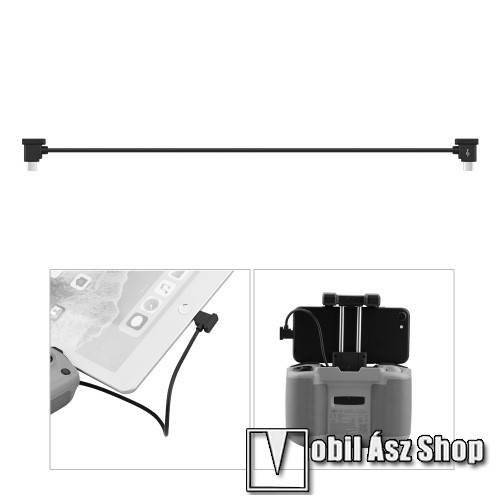 Blackview BV4000 Adatátvitel adatkábel / USB töltő - Type-C / microUSB - 30cm hosszú, derékszögű 90°-os - FEKETE