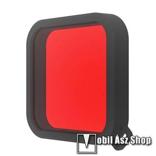 PULUZ DJI OSMO Action-höz kameralencse szűrő búvárkodáshoz - víz által elnyelt vörös szín visszaállítása, visszaállítja a színegyensúlyt, megakadályozza a kép túl kék vagy túl zöldes színét - PIROS