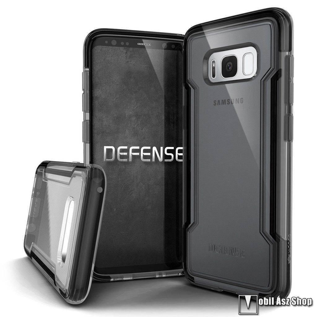 X-Doria Defense Clear műanyag védő tok / hátlap - ÁTLÁTSZÓ / FEKETE - szilikon betétes - SAMSUNG Galaxy S8 (SM-G950) - GYÁRI