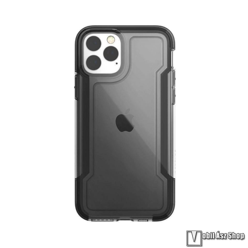 X-Doria Defense Clear műanyag védő tok / hátlap - ÁTLÁTSZÓ / FEKETE - szilikon betétes - APPLE iPhone 11 Pro - GYÁRI