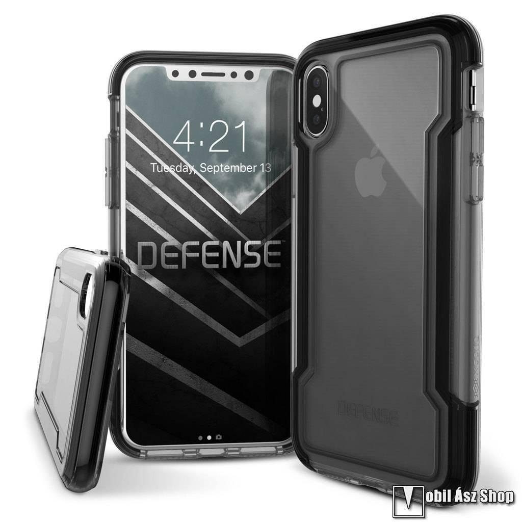 X-Doria Defense Clear műanyag védő tok / hátlap - ÁTLÁTSZÓ / FEKETE - szilikon betétes - APPLE iPhone X / iPhone XS - GYÁRI