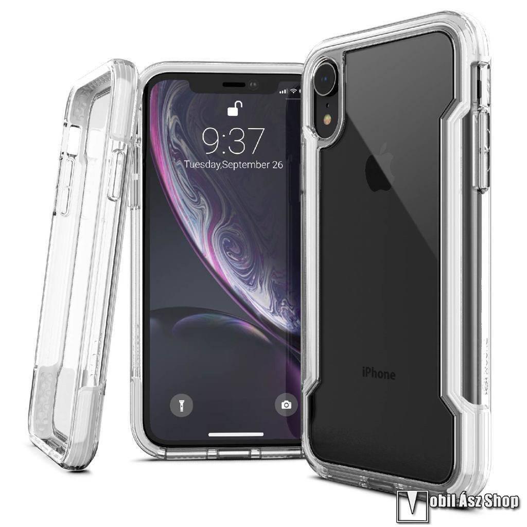 X-Doria Defense Clear műanyag védő tok / hátlap - ÁTLÁTSZÓ / FEHÉR - szilikon betétes - APPLE iPhone Xr - GYÁRI