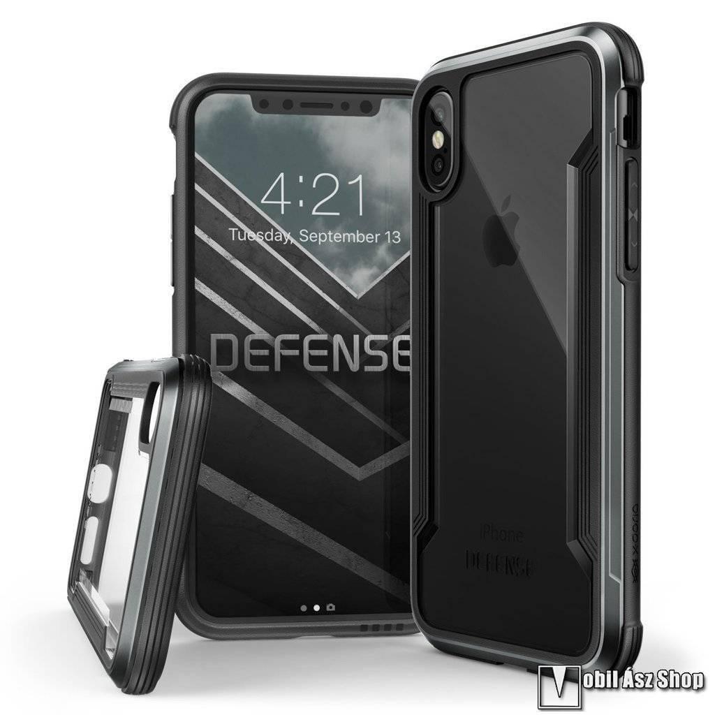 X-Doria Defense Shield műanyag védő tok / hátlap - ÁTLÁTSZÓ / FEKETE - szilikon betétes - APPLE iPhone X / iPhone XS - GYÁRI