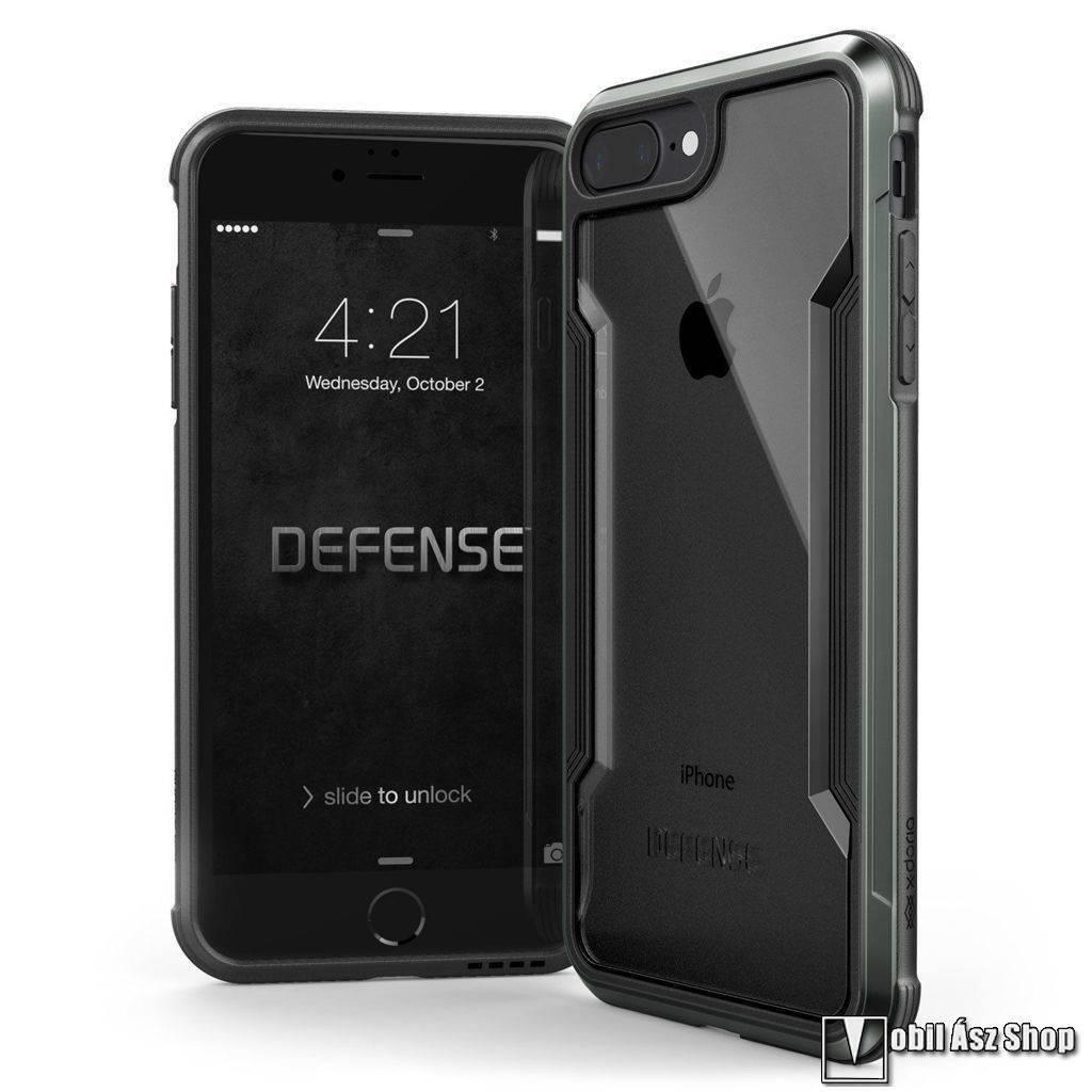 X-Doria Defense Shield műanyag védő tok / hátlap - ÁTLÁTSZÓ / FEKETE - szilikon betétes - APPLE iPhone 7 Plus / iPhone 8 Plus - GYÁRI