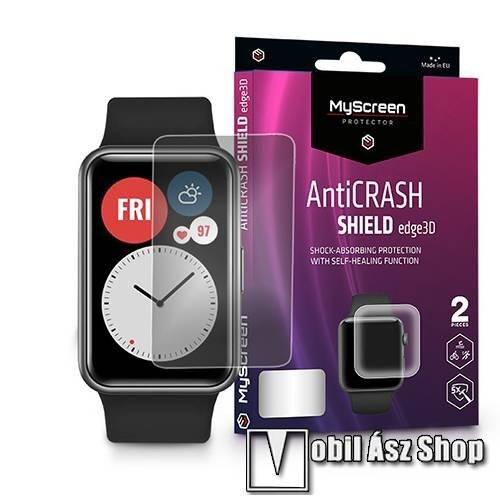 MyScreen Protector AntiCrash Shield Edge3D okosóra képernyővédő fólia - Ultra Clear, ÖNREGENERÁLÓ! - 2db, a teljes képernyőt védi - HUAWEI Watch Fit - GYÁRI