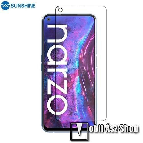 SUNSHINE Hydrogel TPU képernyővédő fólia - Ultra Clear, ÖNREGENERÁLÓ! - 1db, TOKBARÁT - Realme Narzo 30 Pro 5G - GYÁRI