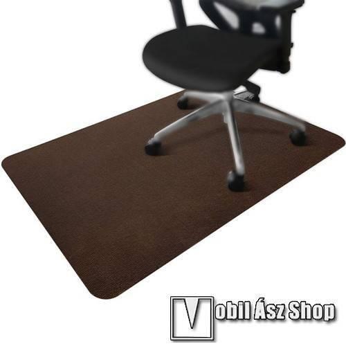 UNIVERZÁLIS szőnyeg - csíkos, csökkenti a zajt, poliészter, bolyhos felület, erős öntapadó csúszásátló, vágható, mosható, nedvszívó, 90x140cm - KÁVÉBARNA