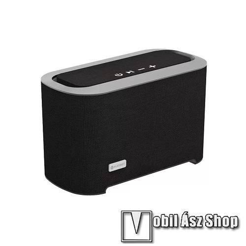 PLATINET hordozható bluetooth hangszóró - v.4.2, 2 x 3 W (hangszóró) + 20 W (mélysugárzó), beépített 1050mAh akku - FEKETE - PMG094 - GYÁRI