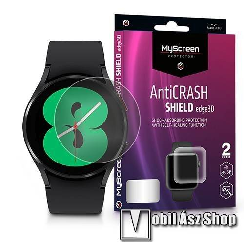 MyScreen Protector AntiCrash Shield Edge3D okosóra képernyővédő fólia - Ultra Clear, ÖNREGENERÁLÓ! - 2db, a teljes képernyőt védi - SAMSUNG Galaxy Watch4 44mm (SM-R870) - GYÁRI