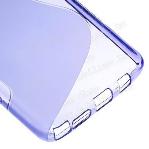 Szilikon védő tok / hátlap - FÉNYES / MATT - LILA - SAMSUNG SM-N920C Galaxy Note 5.