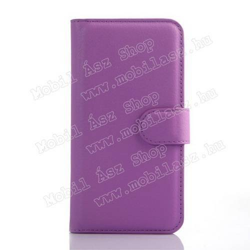 WALLET notesz tok / flip tok - LILA - asztali tartó funkciós, oldalra nyíló, rejtett mágneses záródás, bankkártyatartó zseb - ASUS Zenfone C (ZC451CG)
