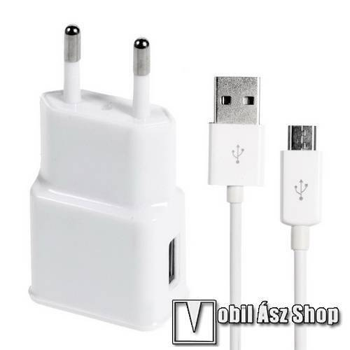 Acer Iconia Tab 7 A1-713HD Hálózati töltő - 5V/2A, USB aljzat, microUSB 2.0 adatátviteli / töltő kábellel - FEHÉR