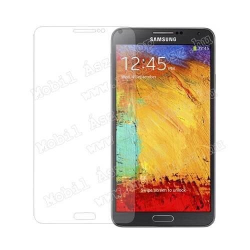 Képernyővédő fólia - Clear - 1db, törlőkendővel - Utángyártott - SAMSUNG GT-N9000/N9002/N9005 Galaxy Note 3