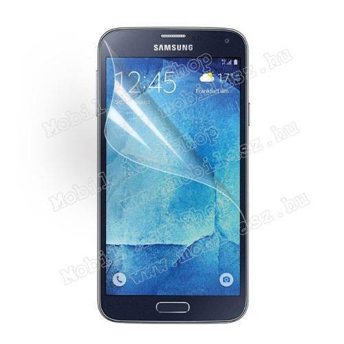 Képernyővédő fólia - Clear - 1db, törlőkendővel - SAMSUNG SM-G903F Galaxy S5 Neo