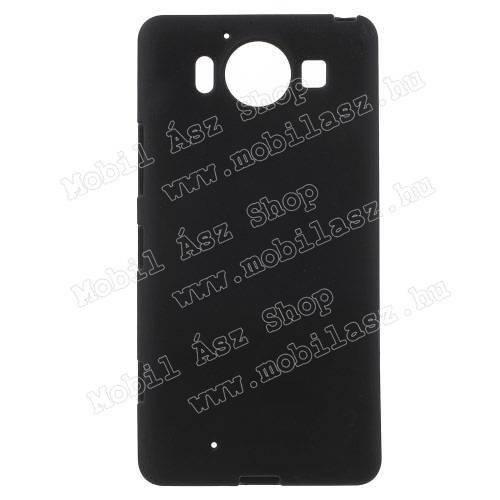 Szilikon védő tok / hátlap - FLEXI - FEKETE - MICROSOFT Lumia 950 / MICROSOFT Lumia 950 Dual SIM