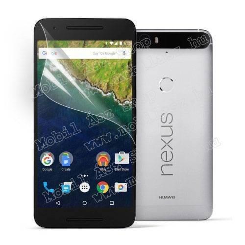 Képernyővédő fólia - Ultra Clear - 1db, törlőkendővel - HUAWEI Nexus 6P