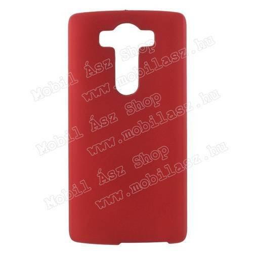 Műanyag védő tok / hátlap - MATT - PIROS - LG V10
