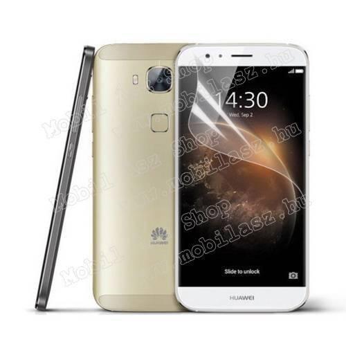 Képernyővédő fólia - Clear - 1db, törlőkendővel - HUAWEI G7 Plus