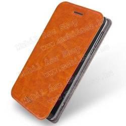 MOFI notesz / mappa tok - BARNA - oldalra nyíló flip cover, asztali tartó funkció, szilikon belső - ASUS Zenfone Zoom (ZX551ML / ZX550)