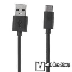 Alcatel Pixi 3 (10) XIAOMI adatátviteli kábel / USB töltő - USB 3.1 Type C - FEKETE - 120cm - GYÁRI