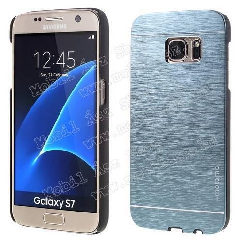 MOTOMO műanyag védő tok / alumínium hátlap - SÖTÉTKÉK - SAMSUNG SM-G930 Galaxy S7