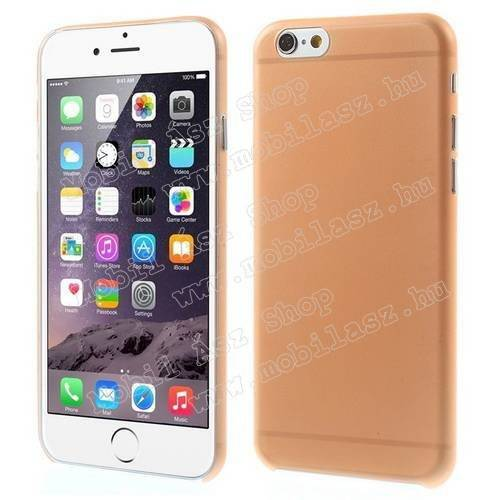 Műanyag védő tok / hátlap - ultravékony, 0,3mm! - NARANCS - APPLE iPhone 6 / APPLE iPhone 6s