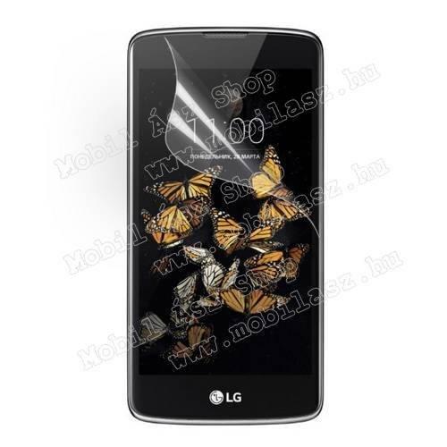 Képernyővédő fólia - Clear - 1db, törlőkendővel - LG K8 (K350N)