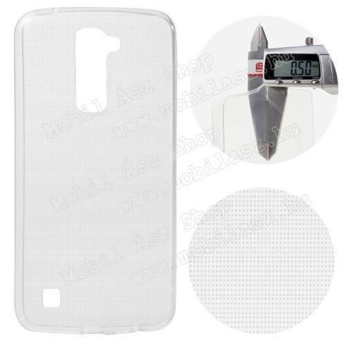 ULTRAVÉKONY szilikon védő tok / hátlap - 0,5 mm - ÁTLÁTSZÓ - LG K10 (K420N)