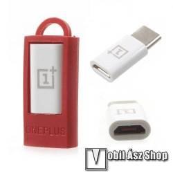 Oneplus adapter microUSB 2.0-át USB 3.1 Type C-re alakítja - FEHÉR - GYÁRI