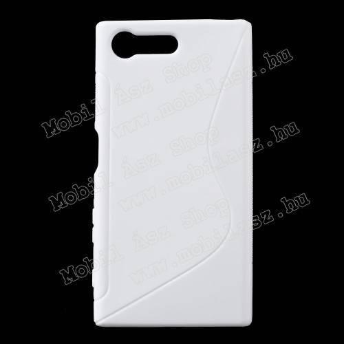 Szilikon védő tok / hátlap - FÉNYES / MATT - FEHÉR - Sony Xperia X Compact (F5321)
