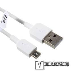 Archos 101 ChildPad HUAWEI 2A adatátvitel adatkábel / USB töltő - USB / microUSB, 1m - FEHÉR - GYÁRI