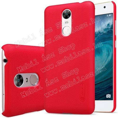 NILLKIN műanyag védő tok / hátlap - PIROS - képernyővédő fólia - HUAWEI Enjoy 6 - GYÁRI