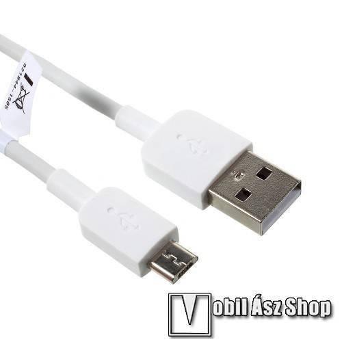 Alcatel One Touch Snap HUAWEI 2A adatátvitel adatkábel / USB töltő - USB / microUSB, 1m - FEHÉR - GYÁRI