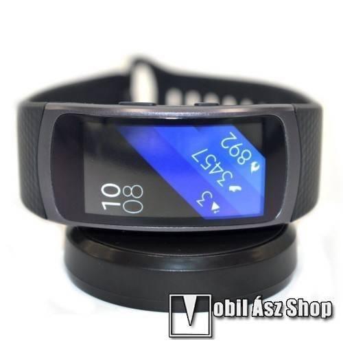 Asztali töltő állvány   dokkoló - FEKETE - SAMSUNG Galaxy Gear Fit 2 SM-R360    Samsung Gear Fit 2 Pro SM-R365 ce9f513b32
