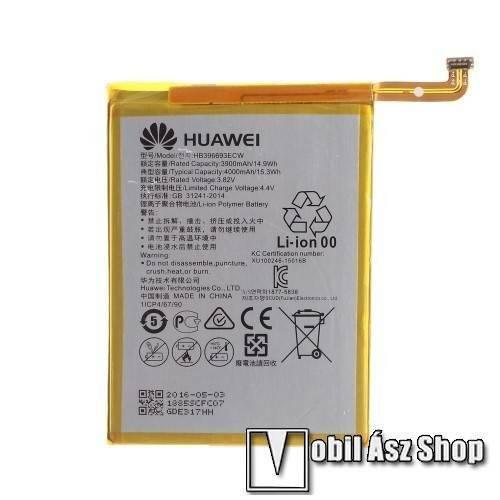 HUAWEI akkumulátor - 4000mAh, 3.82V - HB396693ECW- HUAWEI Mate 8 - GYÁRI
