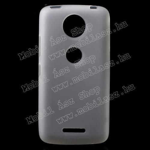 Szilikon védő tok / hátlap - FLEXI - FEHÉR - Motorola Moto C Plus