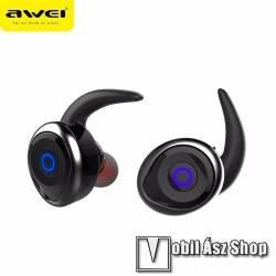 AWEI T1 MINI SZTEREÓ Bluetooth headset - Super mini kialakítás, fülbe illeszkedő, mikrofonnal, V4.2 - FEKETE